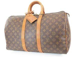 Authentic LOUIS VUITTON Keepall 45 Monogram Canvas Duffel Bag #38176