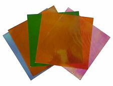 JAPANESE Origami Chiyogami 10 Sheets 15cm x 15cm 5 Colours Pearlescent Plastic