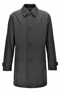 Hugo boss Overcoat Water-Repellent in Twill Lining Quilted Dain Size 54 Black