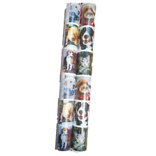 Holiday Heavyweight Gift Wrap Labrador Wirehair Beagle Jack Russel Kittens 40 sq