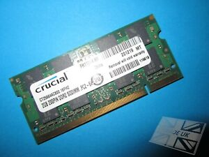 Crucial 2GB CT25664AC800.16FHZ PC2-6400S 800MHz DDR2 Laptop Memory