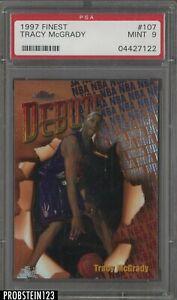 1997 Topps Finest #107 Tracy McGrady Raptors RC Rookie PSA 9 MINT