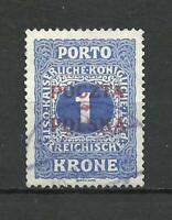 poland 1919 Krakau 1 Kronen used
