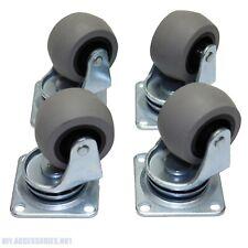 More details for 4 x heavy duty 40mm rubber swivel castor wheels trolley furniture caster bearing