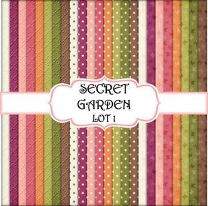 SECRET GARDEN - LOT 4  SCRAPBOOK PAPER - 24 x A4 pages