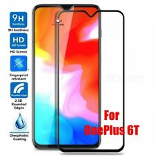 For OnePlus 6T Full Screen Protector Tempered Glass Guard Shield Film Max Cover*