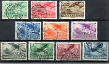 Old stamps of Hungary 1936  # 528-537   used  AIR MAIL SET