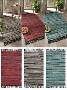 75 x 120cm Eco Friendly Jute & Cotton Handmade Floor Rug Mat Ethnic Carpet