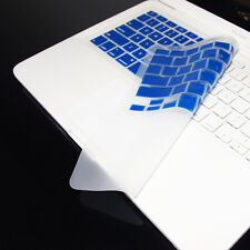 "FULL ROYAL BLUE Keyboard Skin Cover for Macbook White 13"""