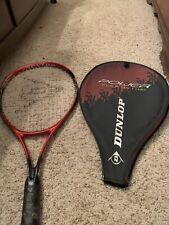 Dunlop Tennis Raquet. Titanium Alloy.Power Flex 112. Super Long. Zipped Cover