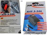 Kfz-Ladegerät ALCS 2-24A ANSMANN für Autobatterie Roller Motorrad 2-24V 9164016