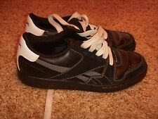 Reebok RBK Skateboard Shoes Suede/Leather Black Gray White Mens Size 9