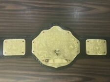 WCW World Heavyweight Wrestling Championship Belts Leather Adults Replica Plates