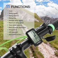 Lixada USB Rechargeable Wireless Bike Computer Bicycle Odometer Speedometer USA