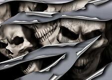 Skull Aufkleber 3D Seitendekor 3D Autoaufkleber Totenköpfe Metal Skull - S057