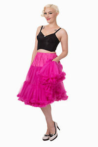 Hot Pink Rockabilly Retro Super Soft 26 inches Petticoat Skirt BANNED Apparel