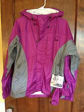 Sierra Designs L NWT Women's Hooded Waterproof Pit Zips Hurricane Jacket