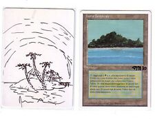 MTG ARTIST PROOF ITALIAN TROPICAL ISLAND ~ SIGNED SKETCH ALTERED JESPER MYRFORS