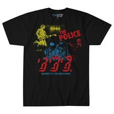 The Police-Ghost In The Machine-In Concert-X-Large Black Lightweight T-shirt
