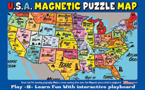 Ata-Boy Magnetic USA Map Play-n-Learn Puzzle Board 19227MX