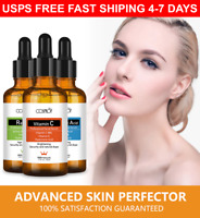 3Pcs Set Vitamin C+E Hyaluronic Acid Retinol Face Serum Moisturizer Anti Wrinkle