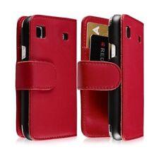 Housse coque étui portefeuille pour Samsung Galaxy SCL i9003 couleur rouge
