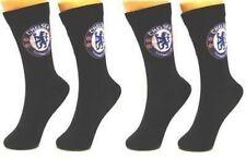 Chelsea FC Oficial Fútbol 1 Pares de Calcetines para Hombre De Vestir Negra De Regalo Talla 6 - 11