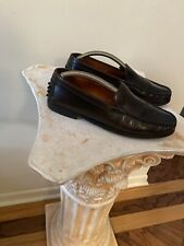 Tod's Black Leather Women's Casual Slip On Loafers Size EU 37.5 US 7
