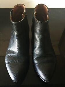 PANTANETTI, Black Leather Ankle boots, Size EU37