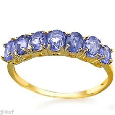 Sparkling Natural Tanzanite Ring, 1.06TCW, in Sold 10K Yellow Gold, Size 7