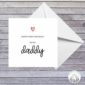 Personalised Birthday Card for Male Female Happy First Birthday As My