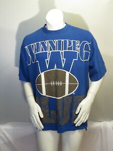 Winnipeg Blue Bombers Shirt (VTG) - 1990s Oversized Graphics - Men's XL