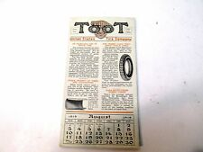 """Vintage Ink Blotter/calendar """"Toot"""" United States Tire Company """"August 1919"""""""