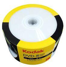 NEW 50-PK Kodak 16X White Inkjet Printable Blank DVD-R DVDR Disc Media 4.7GB