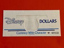 "Disney Dollar ( Serialized Envelope ""W"" ) Gem, Unc, Rare (Version #17)"