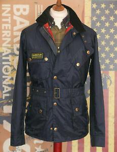 £229 Mens Barbour Nylon International lightweight navy jacket size Small 36