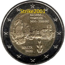 NEW !!! 2 EURO COMMEMORATIVO MALTA 2020 Templi Skorba Fdc NEW !!!