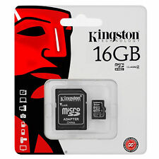 Kingston 16GB Micro SDHC Class 4 Flash Memory Card with Adapter+AU Fast Dispatch