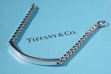 Tiffany & Co Mens Venetian ID Sterling Silver Identity I.D. 7.5 Inch Bracelet