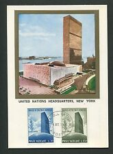 Vatican MK 1965 UN United Nations Headquarters New York Carte Maximum Card MC cm d2502