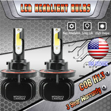 2x Polaris Ranger RZR Razor 800 900 XP 2011 H13 9008 COB LED Headlight Lamp Bulb