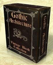 GOTHIC ARCHITECTURE  72 Rare Vintage Books on DVD! Cathedrals Gothic Buildings