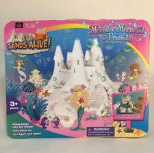 Sands Alive! Merrilee Mermaid & Friends Moldable Play Sand 2 Lbs Ocean Set Play