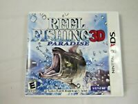 REEL FISHING PARADISE 3D - Nintendo 3DS -- USA Complete Natsume - Hard to Find!