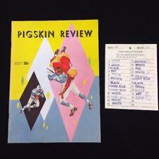 Vintage 1958 USC Trojans VS Berkeley Bears Football Pigskin Review & Game Card