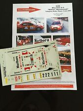 DECALS 1/24 MITSUBISHI LANCER LOIX RALLYE MONTE CARLO 2000 WRC RALLY MARLBORO