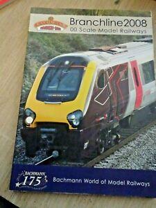 Bachmann  Branchline 2008 model railway catalog for 00 scale railways, v g c