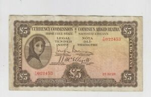 Ireland Paper Money from 1928 f-vf