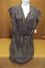 Women's Dress in Navy and Tan Combo by Maison Jules size XL
