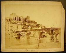 Photo c 1900 Vérone Vérona Ponte Navi Pont Italie Italia 30 cm photographie